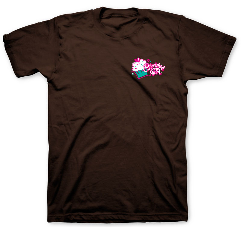 Cherished Girl Adult T - Chocolate