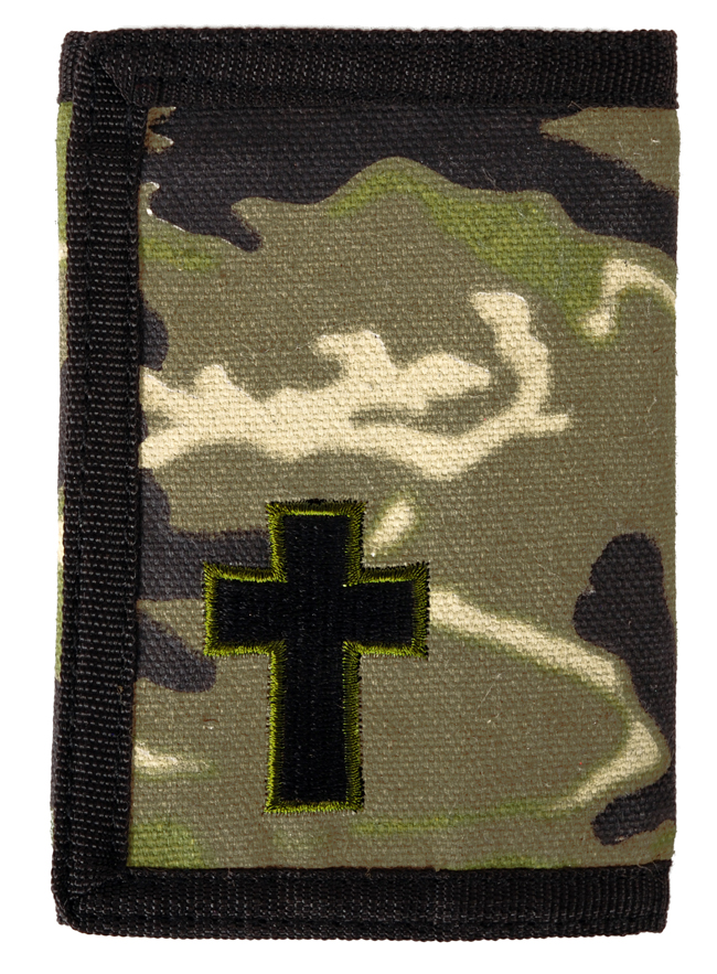 Guy's Wallet - Camo Cross