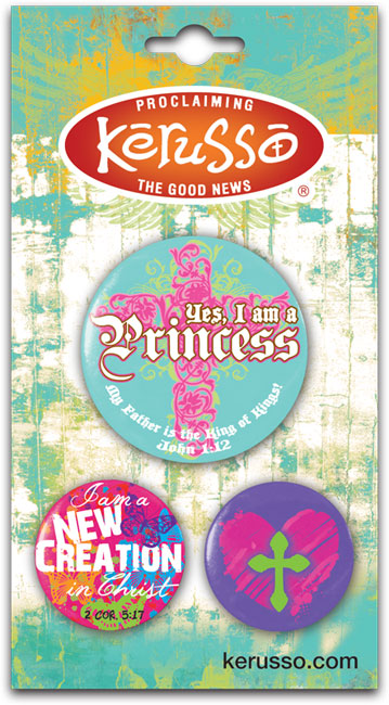 Carded Button Set - Princess