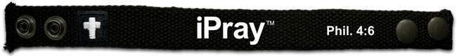 Faith Gear Canvas Bracelet - iPray