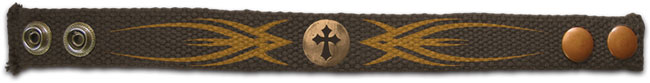 Faith Gear Canvas Bracelet - Tribal Cross
