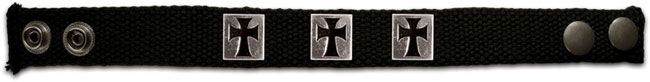Faith Gear Canvas Bracelet - 3 Crosses