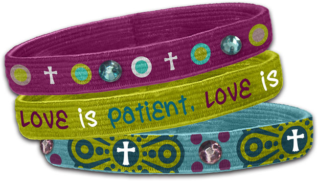 Stretch Bangles - Love (3 Pk)