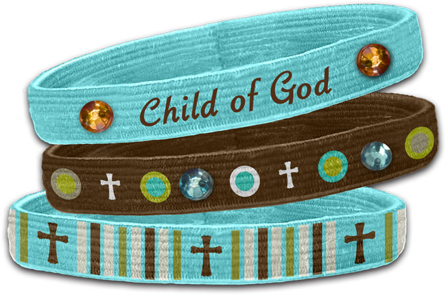 Stretch Bangles - Child Of God (3 Pk)