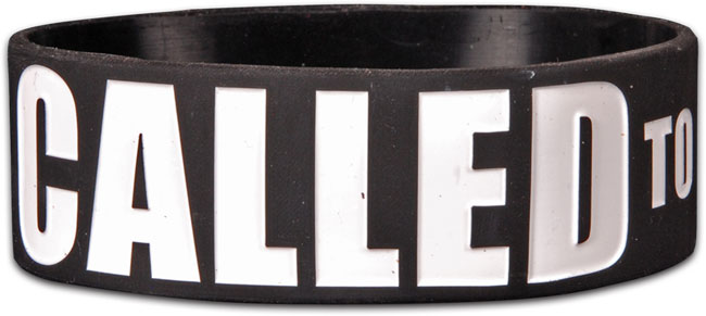 Wide Silicone Bracelet - Called To Duty